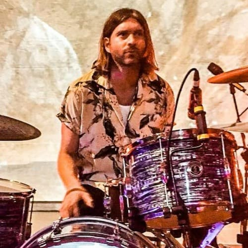 Danny Miles of July Talk on drums